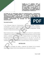 Predictamen Ley Telecom, Julio 2014-Andrastemx