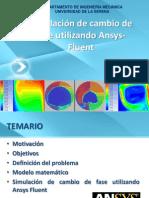 Cambio de Fase en Ansys-Fluent