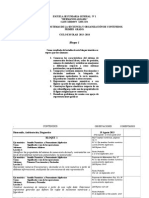 Dosificacion de Temas 1er. Grado 2011- 2012