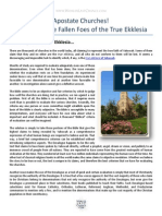 apostate churches - identifying the fallen foes of the true ekklesia