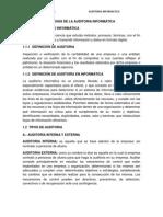 Auditoria Informatica Unidad I y VI