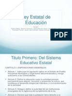 Ley Estatal de Educacion