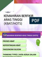 KEMAHIRAN BERFIKIR ARAS TINGGI ~KBAT HOTS