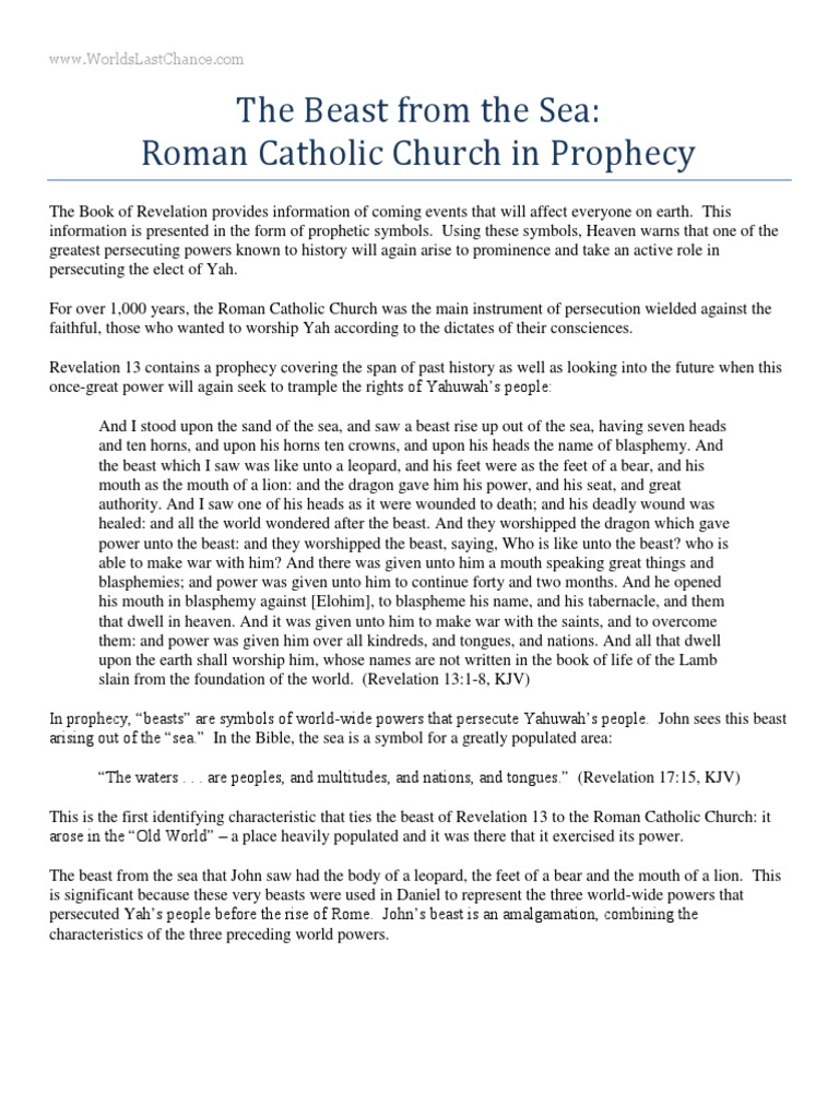 Symbol for roman catholic image collections symbol and sign ideas the beast from the sea roman catholic church in prophecy the the beast from the sea buycottarizona