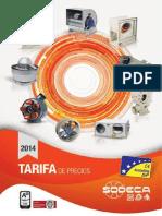 Catalogo Tarifa Sodeca 2014