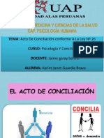 ACTO DE CONCILIACION CONFORME A LA LEY N° 26.pptx