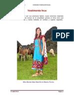 Vestimenta Inca Flor Cruz