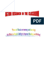 Action Research in the Classroom