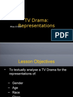 12G Lesson Four - TV Drama Representations