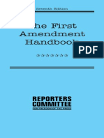 The First Ammendment Handbook