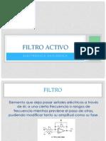 Amplificador Operacional Filtro Activo
