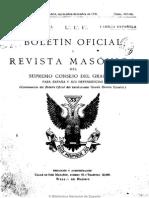 Boletín Oficial y Revista Masónica Del Supremo Consejo Del Grado 33 Para España y Sus Dependencias. 9-1935