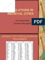 Populations in Medieval Cities