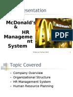 HR Structure Of Mcdonald By Farhan Abid