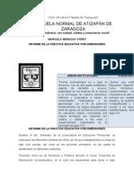 Informe de La Práctica Educativa Por Dimensiones