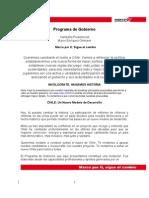 Programa de Gobierno, Marco Enriquez-Ominami