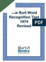 Burt Word Recognition Test