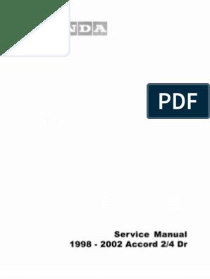 Honda Accord 1998 - 2002 Service Manual COMPLETE