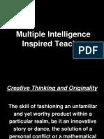 Session IV - MI Inspired Teacher