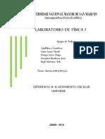 Informe 8 - Movimiento Circular Uniforme
