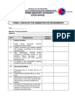 Checklist for Administrative Requirements