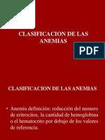 Clasificacion de Las Anemias