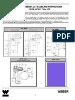 Weber Float Leveling Instructions