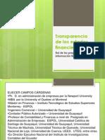 Transparencia de Los Estados Financieros Tito Campos 2011.11.15