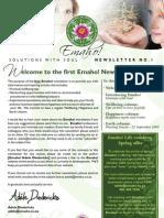 Emaho! Newsletter 1 - Sept 09