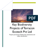 Key Biodiversity Projects of Terracon Ecotech Pvt Ltd
