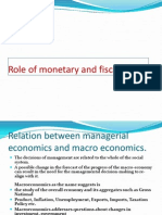 Role of Monetary and Fiscal Plicy in Econmic