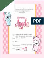 Tarjeta Angela Editar