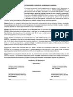Documento de Traspaso de Posesión de Sus Mejoras y Laboreos------quengomayo