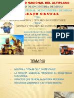 Mineria Moderna y Desarrollo Sostenible