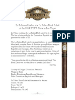 La Palina will debut the La Palina Black Label  at the 2014 IPCPR Show in Las Vegas