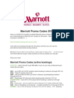 Marriott Promo Codes 2014