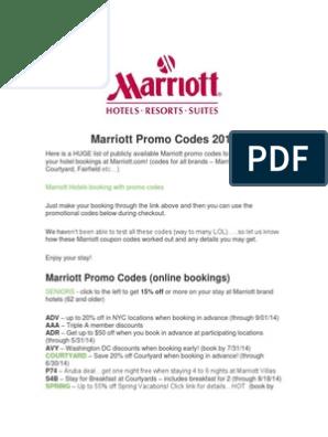 Marriott Promo Codes 2014 | Marriott International | Resort