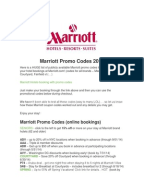 Marriott Discount Codes & Promo Codes. 25% off. Promo Code the Marriott mobile app, through our call centers or select corporate travel professionals. It's the latest perk in a series of benefits like free Wi-Fi and mobile check-in, and earns you points at 4,+ hotels worldwide (some exclusions apply in Mainland China, Macau, Hong Kong /5(13).