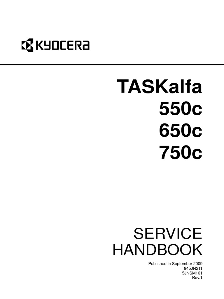 Service Hand Book TASKalfa 750c 650c 550c Service Manual | Image Scanner |  Electrical Connector