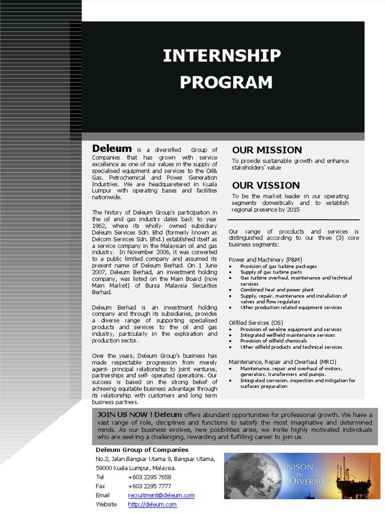 Internship at Deleum   Economies   Technology