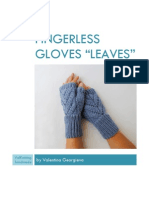 Leaves Fingerless Gloves
