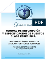Manual de Descripcion y Especificacion de Puestos Clase Espe