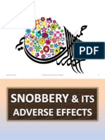 Snobbery & its adverse effects