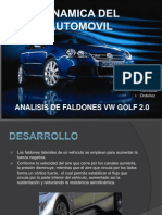 DINAMICA DEL AUTOMOVIL Analicis de Faldones Del Vehiculo