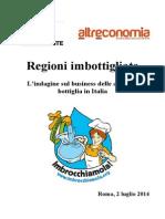Legambiente Altreconomia Regioni imbottigliate 2014