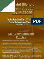 PresentacionLeySilencioAdministrativo Ley Nª 29060