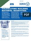 Calculating Building Material Quantities