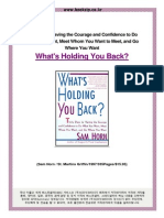 What's Holding You Back 30 Days to Having the Courage and Confidence