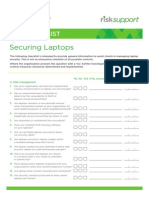 Securing Laptops Checklist
