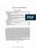 Crime Facilitating Speech Eugene Volokh Vol 57 STANFORD LAW REVIEW 1095 to 1222